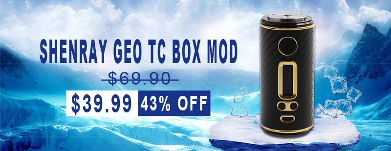 ShenRay GEO TC Box Mod - Black + Gold