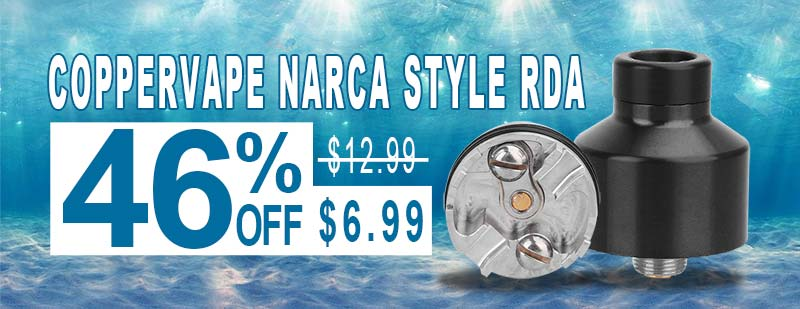 Coppervape NarCa Style RDA - Black