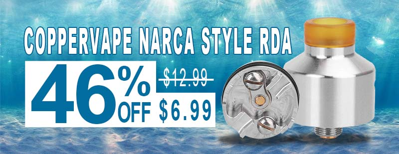 Coppervape NarCa Style RDA - Sliver