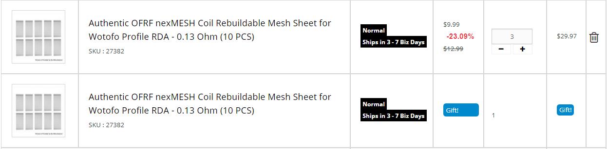 OFRF nexMESH sheet