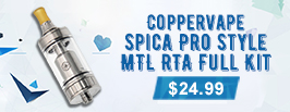 Coppervape Spica Pro Style MTL RTA
