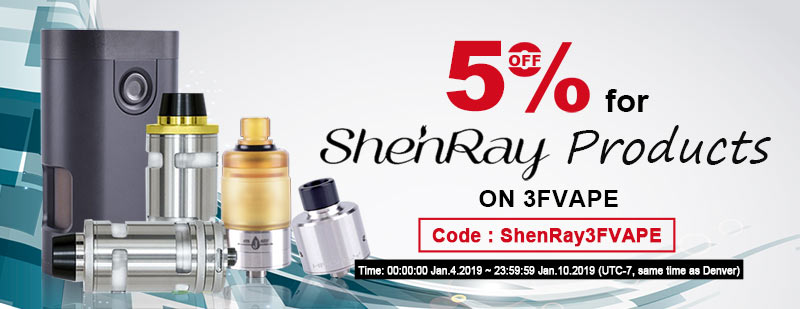 5% off for ShenRay Products