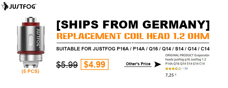 Justfog Replacement Coil Head 1.2 Ohm