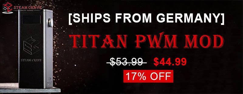 Steam Crave Titan PWM 300W Mod