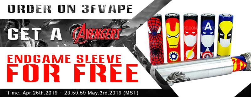 Free Avengers: Endgame sleeve - 3FVape