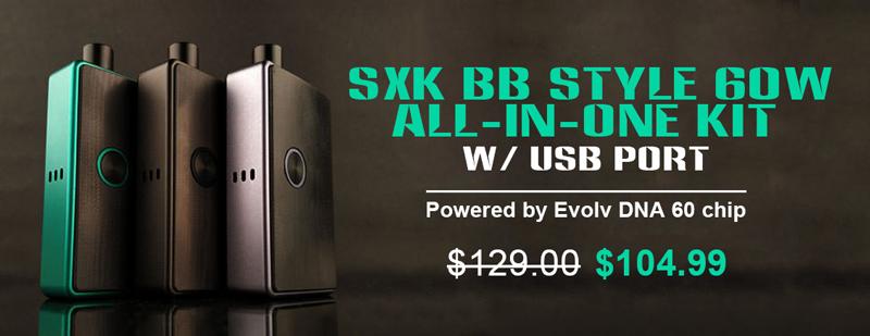 SXK BB Style 60W mod - 3FVAPE