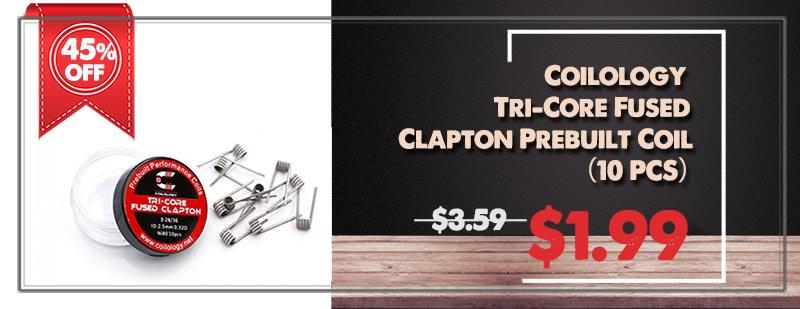 Coilology Tri-Core Fused Clapton Prebuilt Coil (10 PCS)
