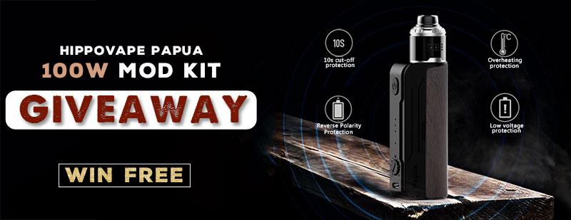 Hippovape Papua 100W Mod Kit Giveaway