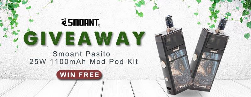 Smoant Pasito 25W 1100mAh Mod Pod System Kit Giveaway