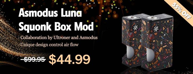Asmodus Luna Squonk Box Mod - Black Mosaic