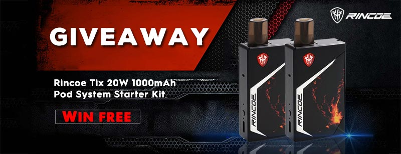 Rincoe Tix 20W 1000mAh Pod System Starter Kit Giveaway