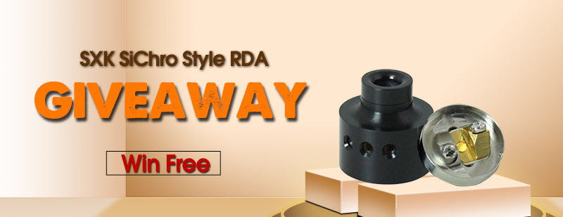 SXK SiChro Style RDA Giveaway