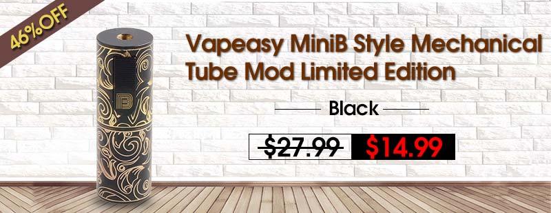 Vapeasy-MiniB-Style-Mechanical-Tube-Mod-Limited-Edition-Black