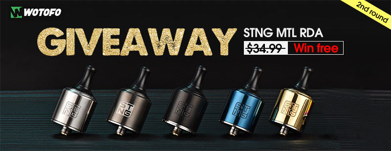 Wotofo STNG MTL RDA Giveaway 2nd round