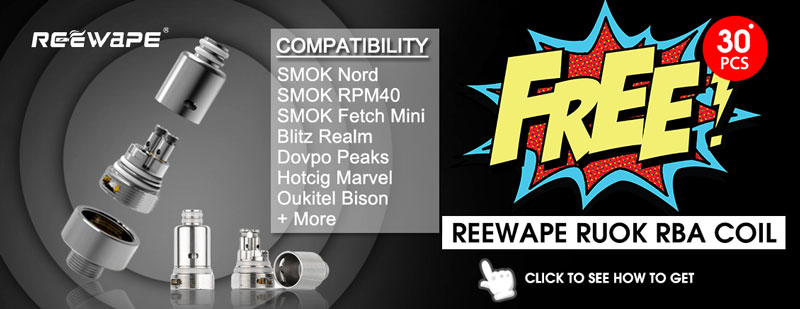 Order now on 3FVape!!! Get a Reewape RUOK RBA Coil for free