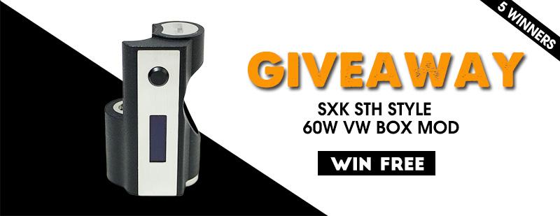 SXK STH Style 60W VW Box Mod Giveaway
