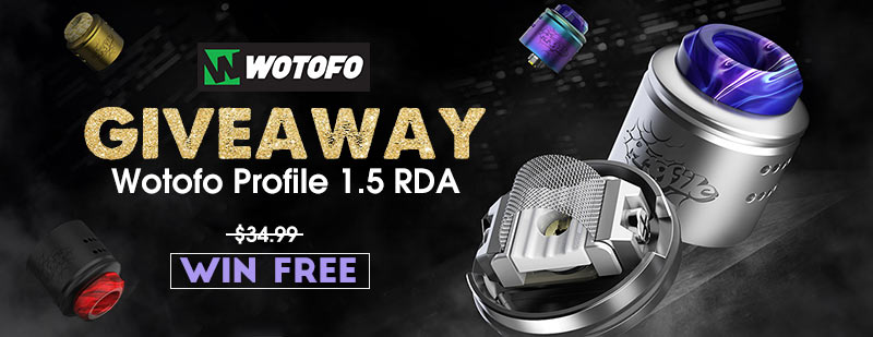 Wotofo Profile 1.5 RDA Giveaway