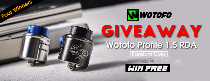 Wotofo Profile 1.5 RDA Giveaway (Random Color) - Four Winners