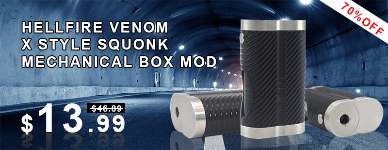 Hellfire Venom X Style Squonk Mechanical Box Mod
