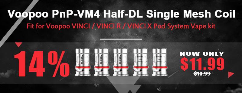 Voopoo VINCI PnP-VM4 Half-DL Single Mesh Coil