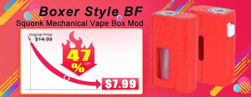 Boxer Style BF Squonk Mechanical Vape Box Mod