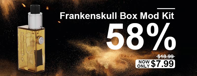 FrankenSkull Style Mechanical Box Mod Kit