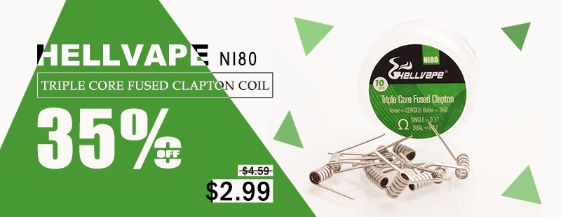 Hellvape Ni80 Triple Core Fused Clapton Coil