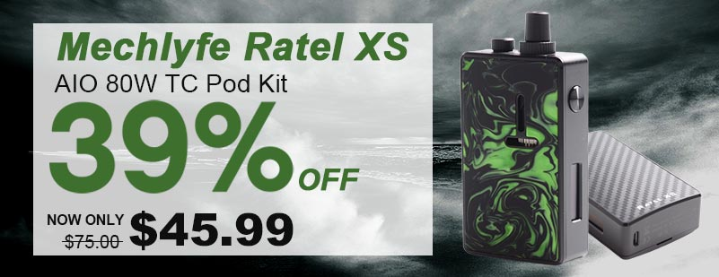 Mechlyfe Ratel XS 80W TC VW DL /MTL Rebuildable AIO Pod System Vape Kit