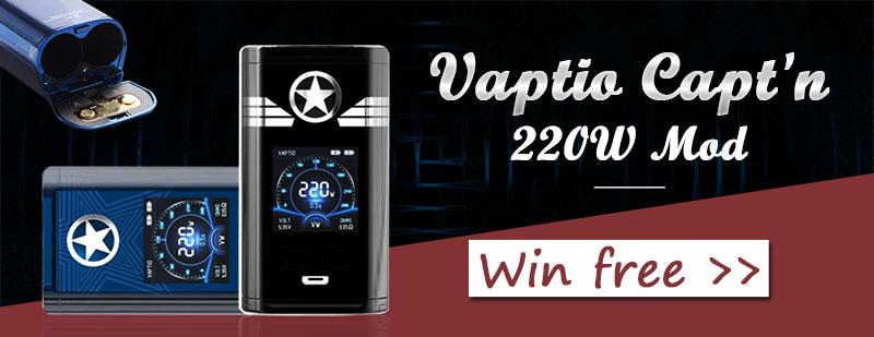 Vaptio Capt'n 220W Mod Giveaway