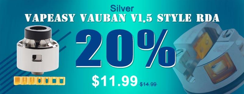 Vapeasy Vauban V1.5 BF RDA Silver