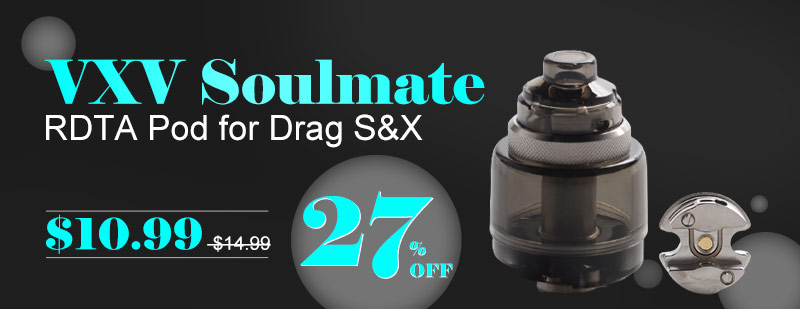 VXV Soulmate RDTA / RDA Pod Cartridge for VOOPOO Drag S / VOOPOO Drag X