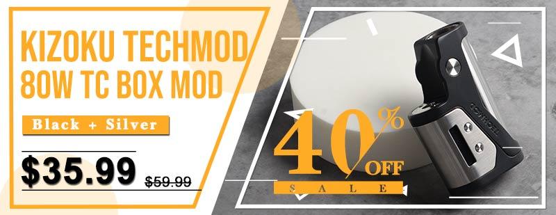 Kizoku Techmod 80W TC Box Mod - Black + Silver
