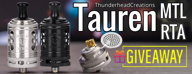 ThunderHead Creations Tauren MTL RTA Giveaway-3FVAPE