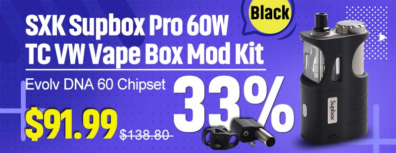Black SXK Supbox Pro DNA 60 Kit Flash Sale