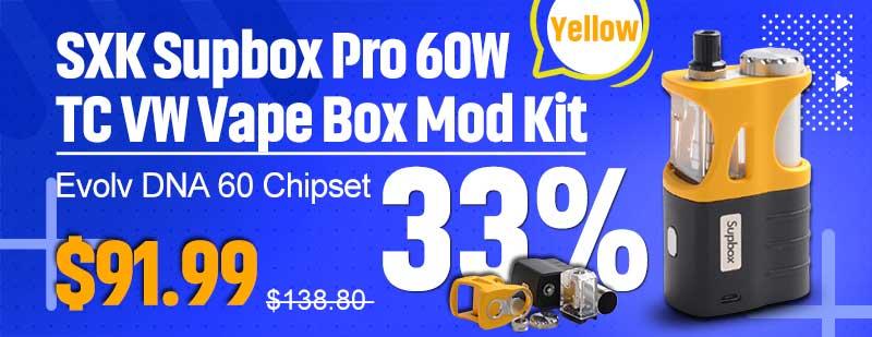 Yellow SXK Supbox Pro DNA 60 Kit Flash Sale