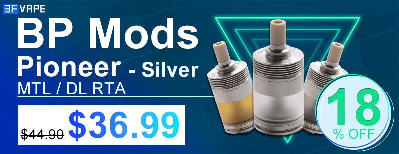 BP Mods Pioneer RTA Silver Flash Sale