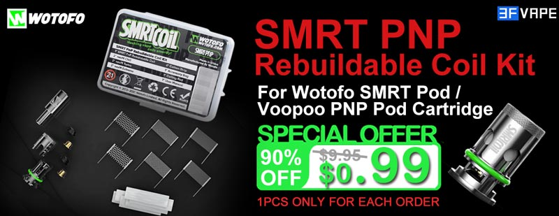 Wotofo SMRT PnP Rebuildable Coil Kit Special Offer