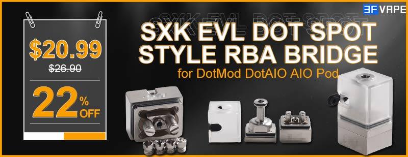 SXK EVL Dot Spot Polycarbonate Style RBA Bridge