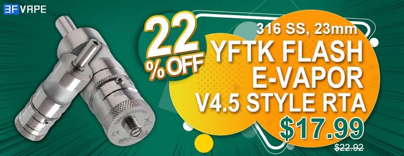YFTK Flash e-Vapor V4-5 Style RTA