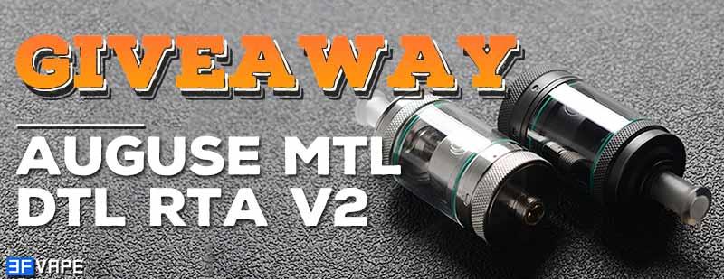 Auguse MTL / DTL V2 RTA Giveaway