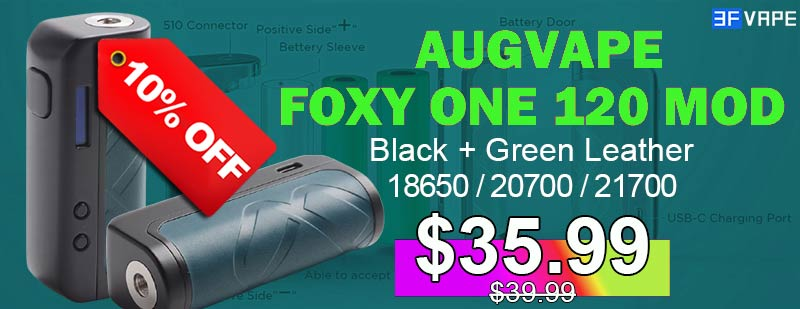 Augvape Foxy One Mod Black+Green Leather Flashsale