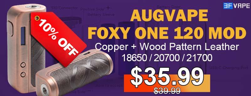Augvape Foxy One Mod Copper+Wood Pattern Leather Flashsale