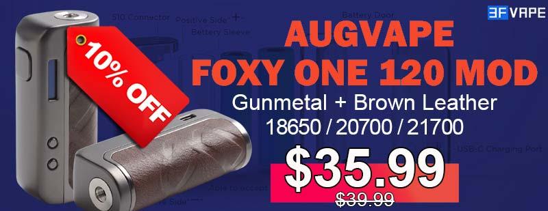 Augvape Foxy One Mod Gunmetal+Brown Leather Flashsale