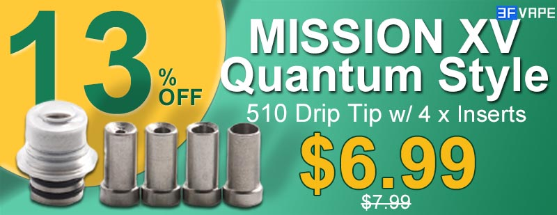 MISSION XV Quantum Style 510 Drip Tip Flash Sale