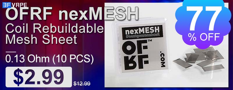 OFRF nexMESH Coil Rebuildable Mesh Sheet Flash Sale