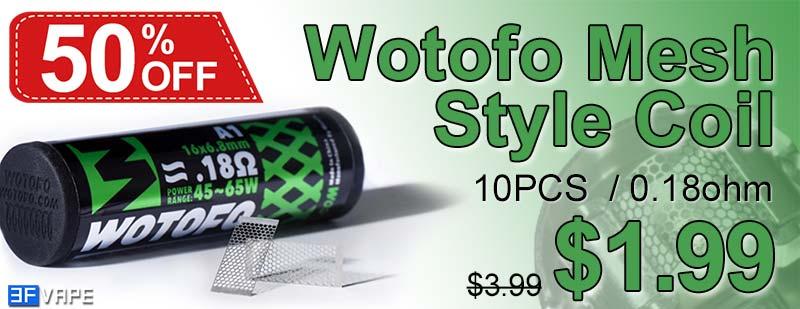 Wotofo Mesh Style Coil Rebuildable Mesh Sheet Flash Sale