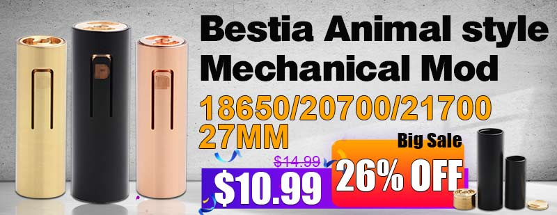 Bestia Animal Mechanical Mod 21700 27mm  Flash Sale