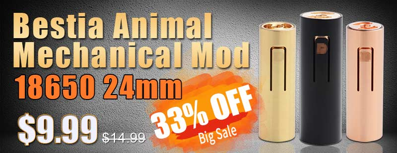 Bestia Animal Mechanical Mod 18650 24mm  Flash Sale