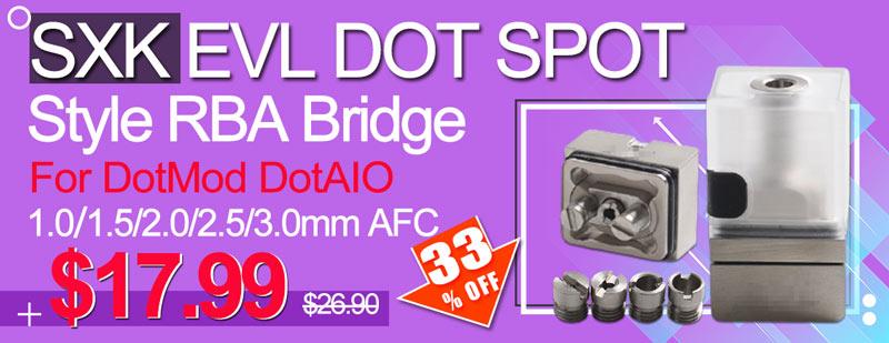 SXK EVL Dot Spot Polycarbonate Style RBA Bridge for DotAIO Flash Sale