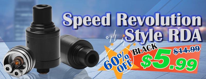 Speed Revolution Style RDA 18mm Black Flash Sale